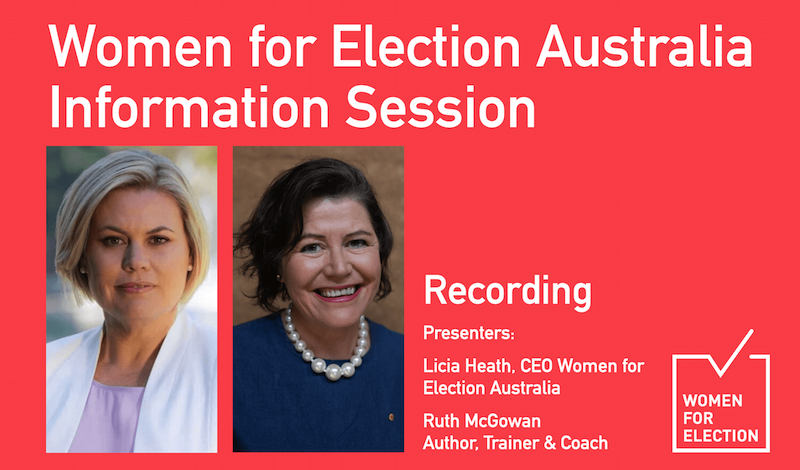 Women for Election Information Session via Zoom :: May 2020