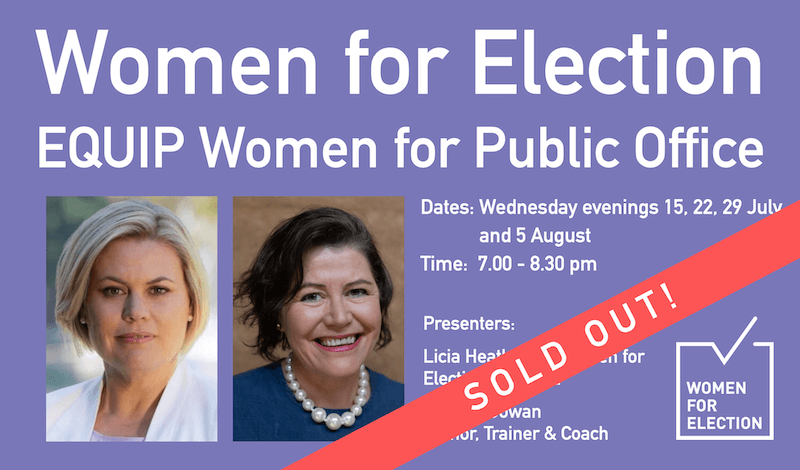 SOLD OUT: EQUIP Women for Public Office | Online Program ::  15 July – 5 August 2020
