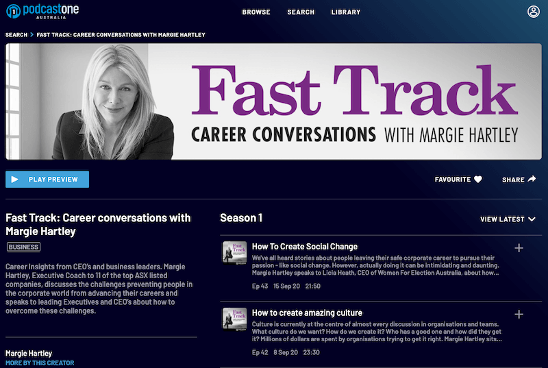 Podcast: How To Create Social Change. Licia Heath, WFEA CEO interviewed by Margie Hartley on Fast Track