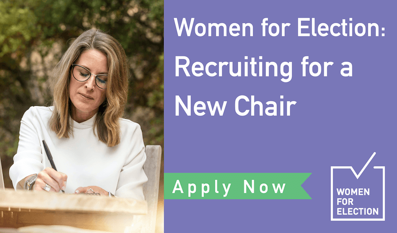 Women for Election Australia: Recruiting for a New Chair